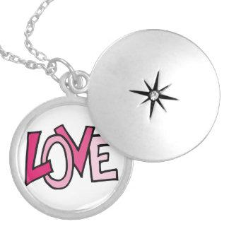 Love Round Locket Necklace