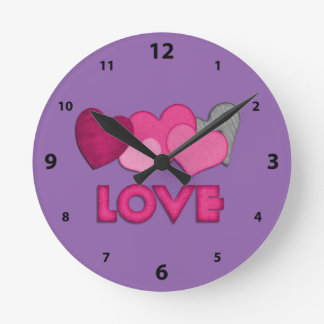 """Love"" Round (Medium) Wall Clock"