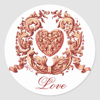Love Round Sticker