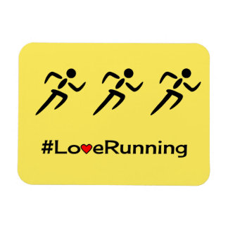 Love running slogan sports magnet
