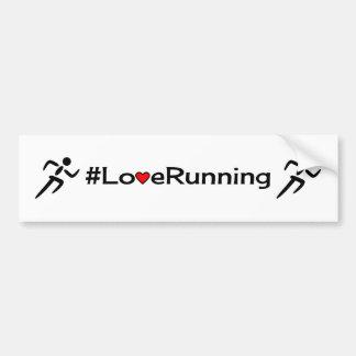 Love running slogan white bumper sticker