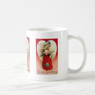 Love s Greeting Vintage Valentine Mugs