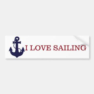 Love sailing/Anchor bumper sticker