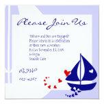 Love Sails 5.25x5.25 Square Paper Invitation Card