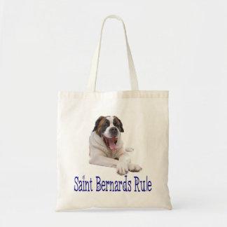 Love Saint Bernard Puppy Dog Canine Budget Tote Bag