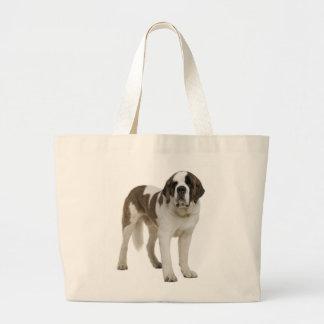 Love Saint Bernard Puppy Dog Canine Jumbo Tote Bag