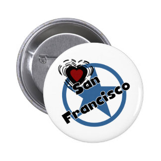 Love San Francisco 6 Cm Round Badge