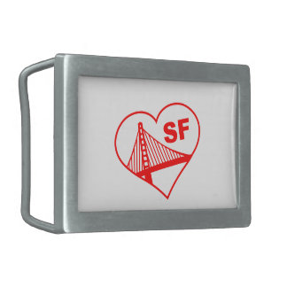 Love San Francisco Heart Belt Buckle