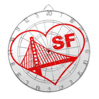 Love San Francisco Heart Dart Boards