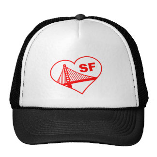 Love San Francisco Heart Mesh Hats