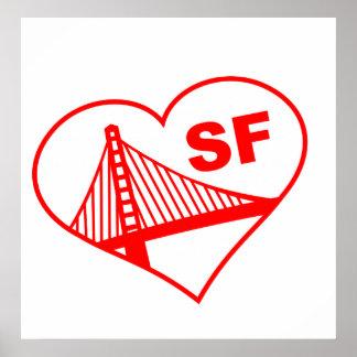 Love San Francisco Heart Posters