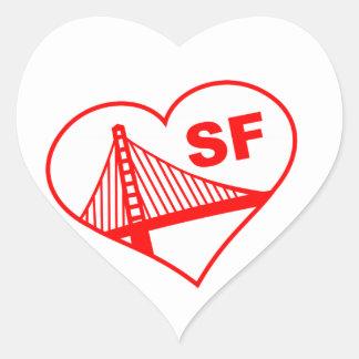 Love San Francisco Heart Heart Sticker