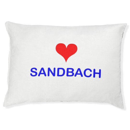 Love Sandbach Dog Cushion