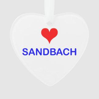 Love Sandbach Heart Ornament
