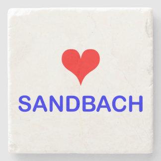 Love Sandbach Marble Stone Coaster