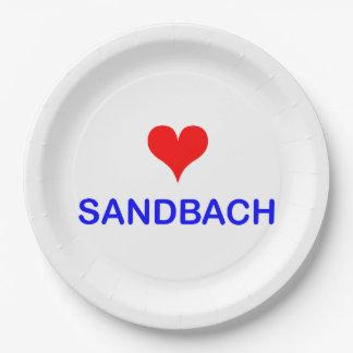 Love Sandbach Paper Plates