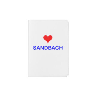 Love Sandbach Passport Holder