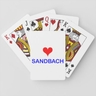 Love Sandbach Playing Cards