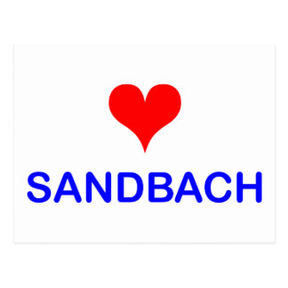 Love Sandbach Postcode Postcard