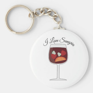 Love Sangria Basic Round Button Key Ring