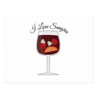Love Sangria Postcard