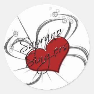 Love Saprono Singers Heart Round Sticker