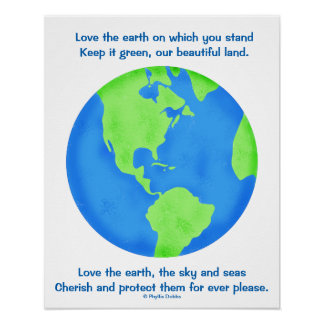 Save Earth Posters | Zazzle.co.uk