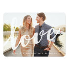 Love | Save the Date Photo Card