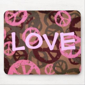 LOVE-Saying-Peace Signs/Camo Look-Mousepad Mouse Mat