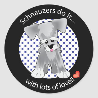 Love Schnauzer Classic Round Sticker