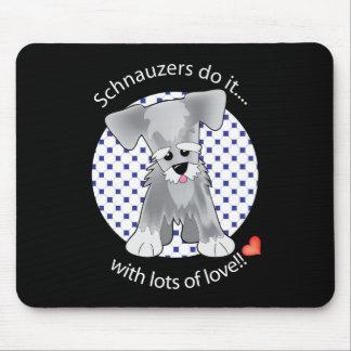 Love Schnauzer Mouse Mat
