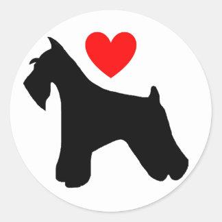 Love Schnauzer Sticker