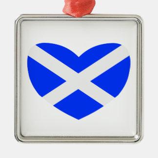 Love Scotland Silver-Colored Square Decoration