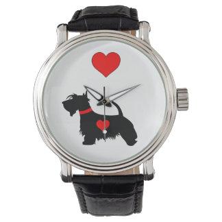 Love Scottie dog watch