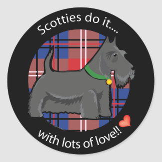 Love Scotty Classic Round Sticker