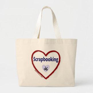 Love Scrapbooking Jumbo Tote Bag