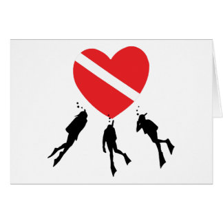 Love SCUBA Diving Greeting Card