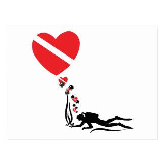 Love SCUBA Postcard