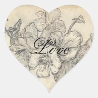 love seal heart sticker