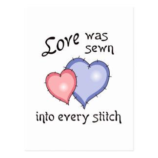 LOVE SEWN POSTCARD