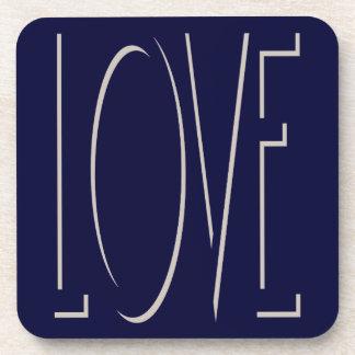 LOVE Shadow Beverage Coaster