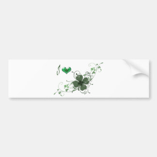 Love Shamrock Design Bumper Sticker