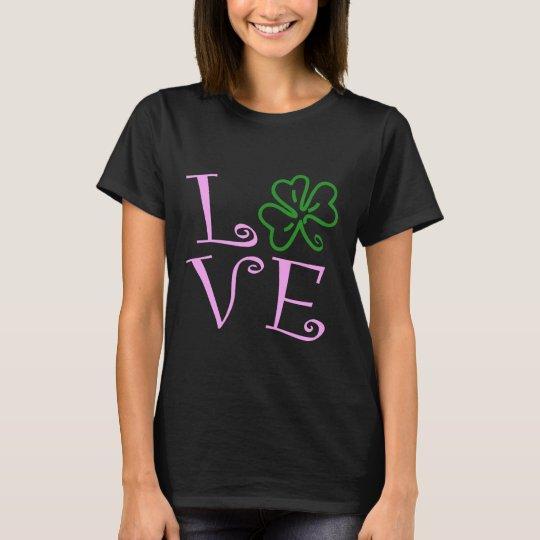 Love Shamrock - Pink and Green T-Shirt