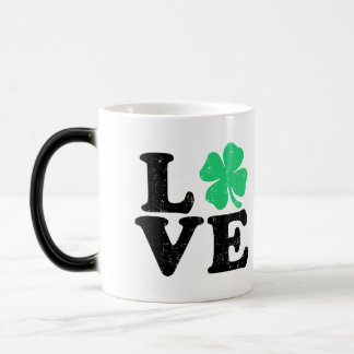 Love Shamrock - St. Patrick's Day (Grunge) Magic Mug