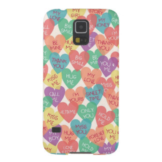 Love Shape Background Cases For Galaxy S5