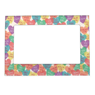 Love Shape Background Magnetic Frame