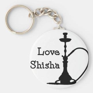 Love Shisha Basic Round Button Key Ring