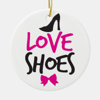 Love Shoes with cute little bow Christmas Ornament