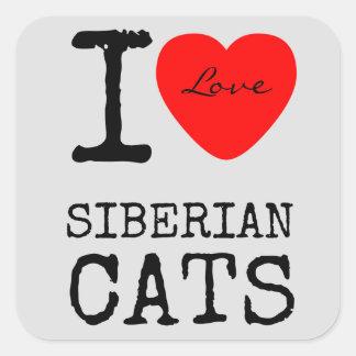 Love Siberian Cats Stickers