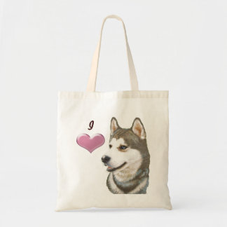 Love Siberian Husky Bag